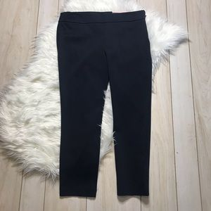 NWT Ann Taylor Ponte Knit Ankle Pants Navy Blue